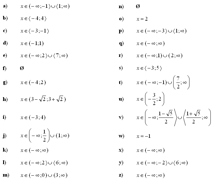 Answers Quadratic Equations And Inequalities on Statistics And Probability Problems