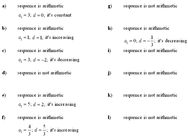 arithmetic sequence worksheets with answers - Ataum berglauf-verband com