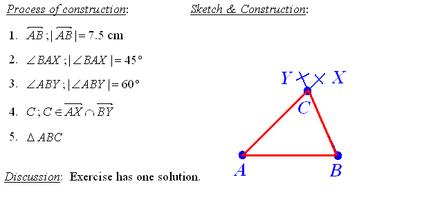 Answers To Math Exercises Problems Geometric Construction. Process Of Construction The Triangle. Worksheet. Geometry Construction Worksheet At Clickcart.co