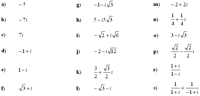 Complex numbers and complex equations - Exercise 5