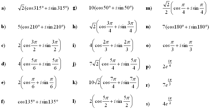 Complex numbers and complex equations - Exercise 6