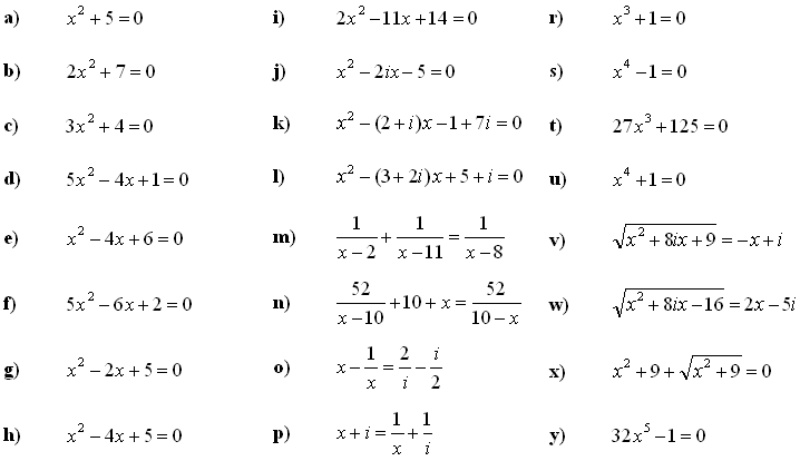 Complex numbers and complex equations - Exercise 8