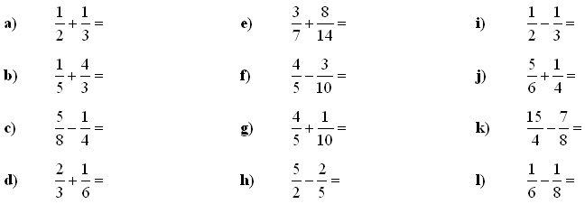 Math Exercises: Fractions and Decimals