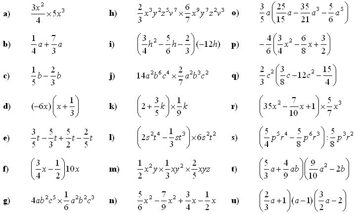 math exercises math problems polynomials