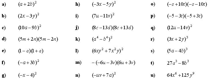 Math Exercises & Math Problems: Application of Formulas for ...