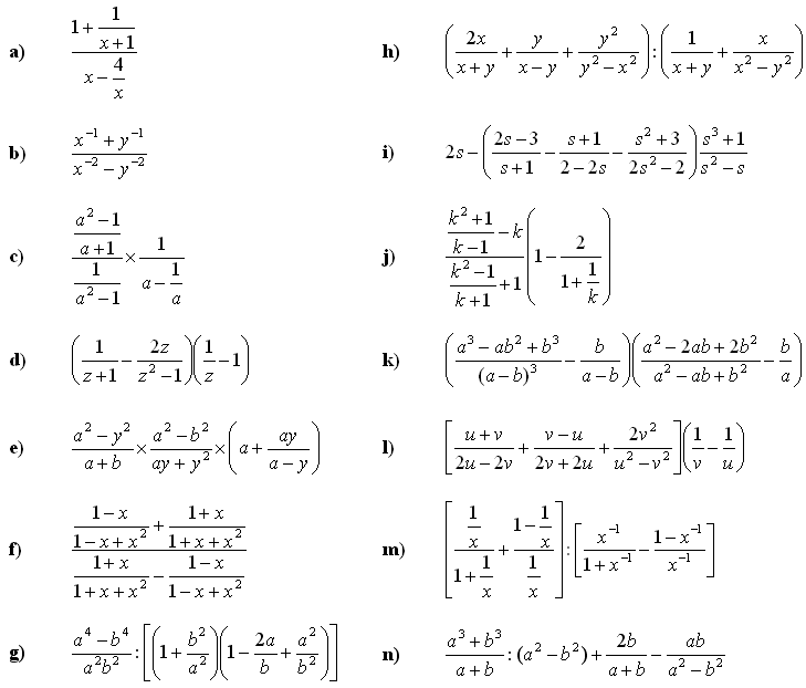 Algebra Fractions Ukrobstep – Algebraic Fractions Worksheet