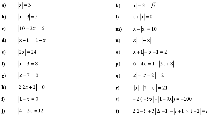 Math Exercises Math Problems Linear Equations and Inequalities – Absolute Value Inequality Worksheet
