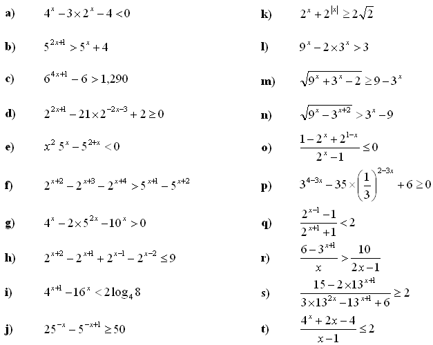 Math Exercises Problems Exponential Equations And Inequalities. Exponential Equations And Inequalities Exercise 4. Worksheet. Worksheet Exponential Equations At Clickcart.co