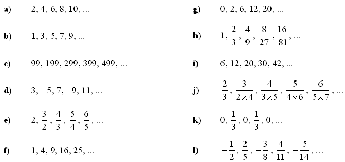 math exercises math problems sequence