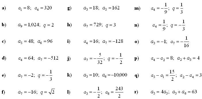Math Exercises Math Problems Geometric Sequence – Arithmetic and Geometric Sequence Worksheet