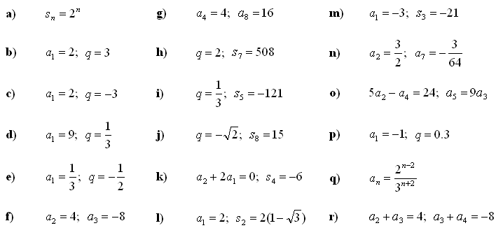 Math Exercises Math Problems Geometric Sequence – Geometric Sequence Worksheet