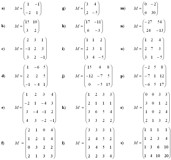 Math Exercises & Math Problems: Determinant of a Matrix