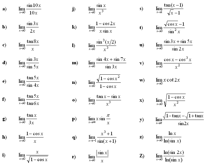 Limit of a function - Exercise 5