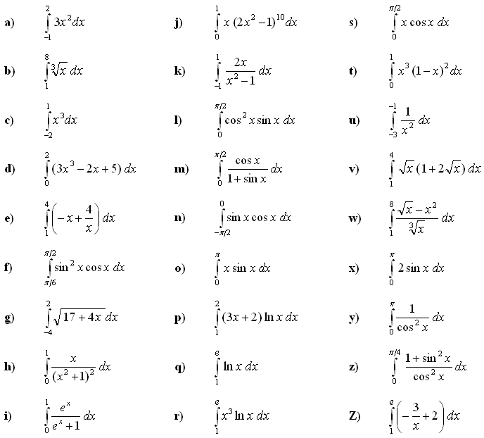 Math Exercises: Definite Integral of a Function