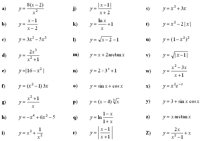 Math Exercises Math Problems Analysis Of Functions Properties Of