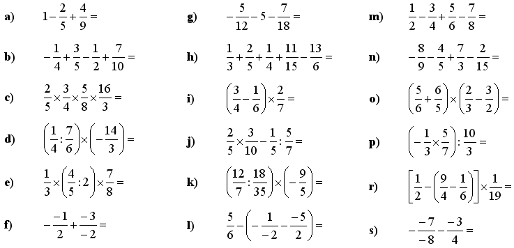 Math Exercises Math Problems Fractions And Decimals