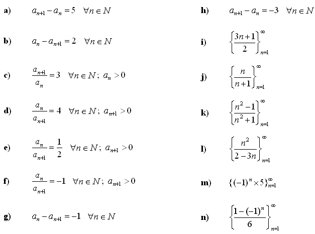 Math Exercises & Math Problems: Sequence