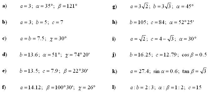 Math Exercises & Math Problems: Trigonometry and Trigonometric