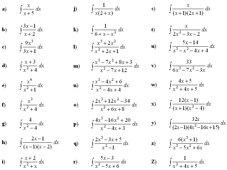Math Exercises & Math Problems: Indefinite Integral of a